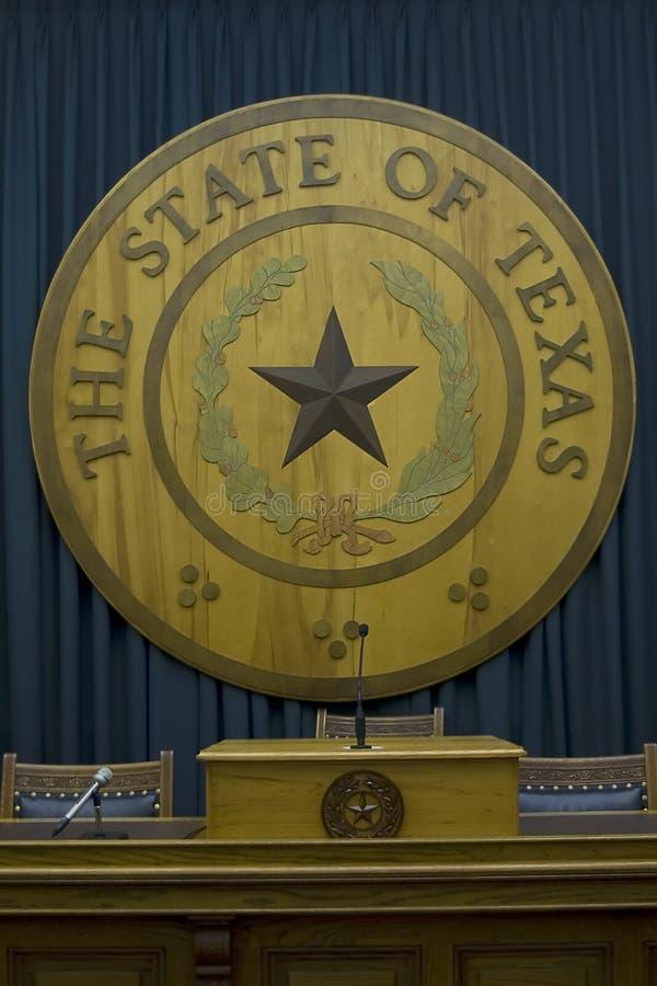 Emblema della condizione del Texas fotografie stock libere da diritti