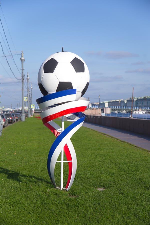 Emblema della coppa del Mondo Russia 2018 della FIFA fotografia stock libera da diritti
