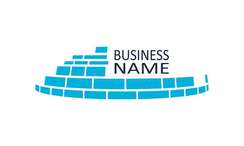Emblema della costruzione di edifici illustrazione di stock