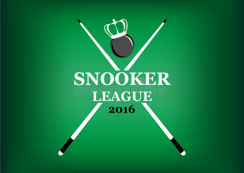 Emblema della lega dello snooker su un fondo verde royalty illustrazione gratis