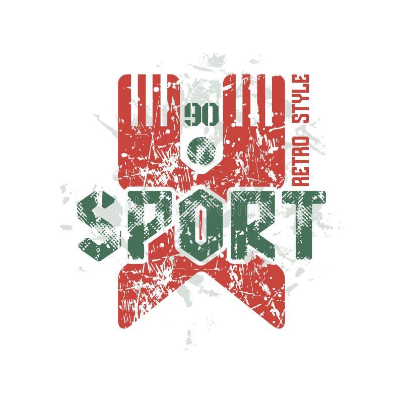 Emblema della squadra di hockey illustrazione di stock