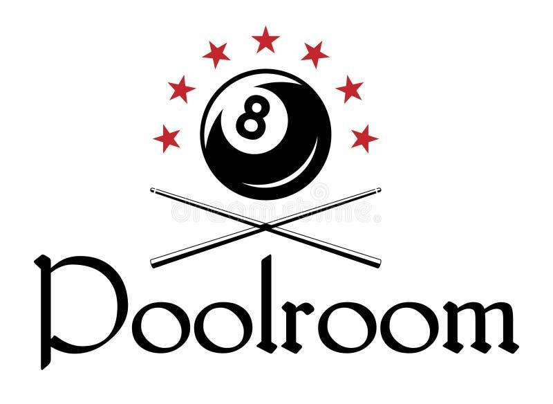 Emblema dello snooker o del biliardo royalty illustrazione gratis