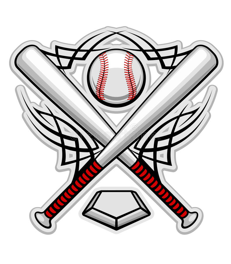 Emblema di baseball di colore royalty illustrazione gratis