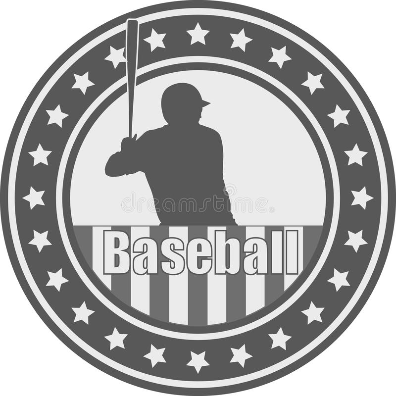 Emblema di baseball - vettore illustrazione vettoriale
