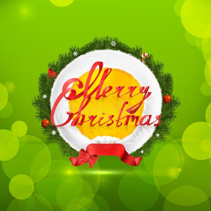 Emblema di Buon Natale illustrazione di stock