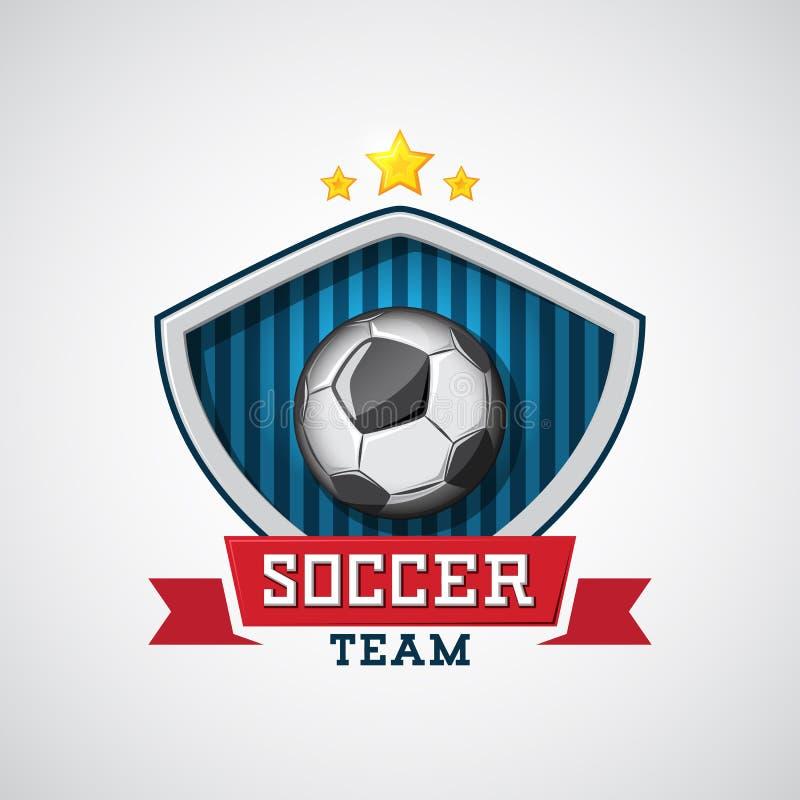 Emblema di calcio illustrazione di stock