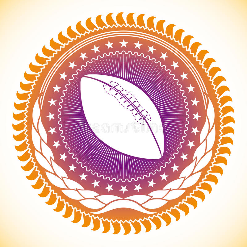 Emblema di football americano. royalty illustrazione gratis
