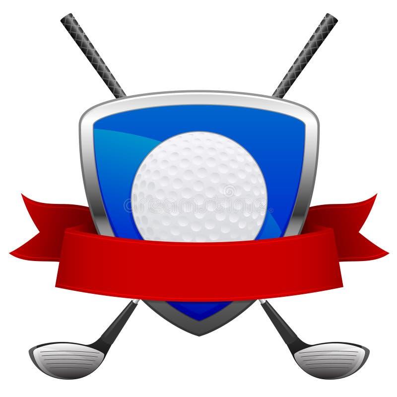 Emblema di golf royalty illustrazione gratis