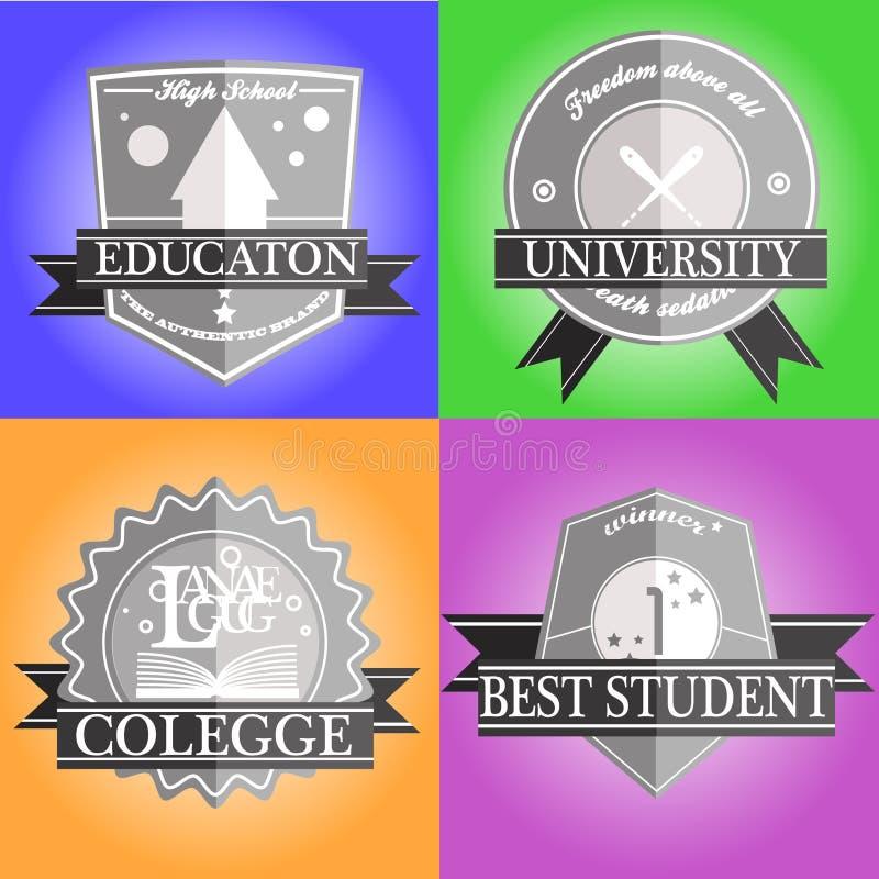 Emblema di istruzione fotografie stock libere da diritti