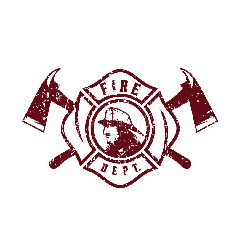 Emblema di lerciume del corpo dei vigili del fuoco royalty illustrazione gratis