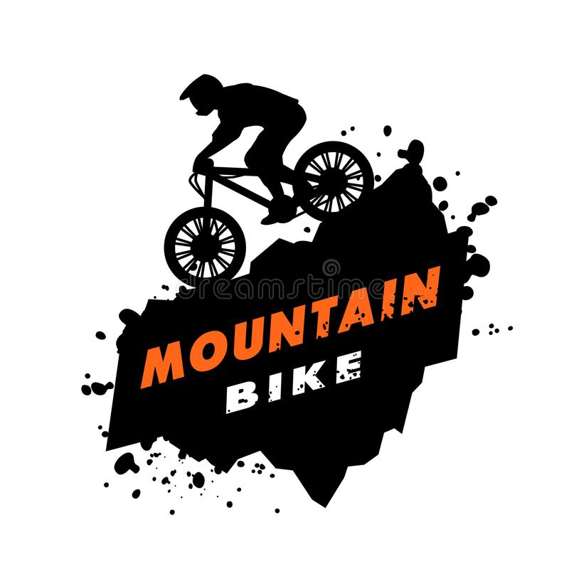 Emblema di prove del mountain bike illustrazione di stock