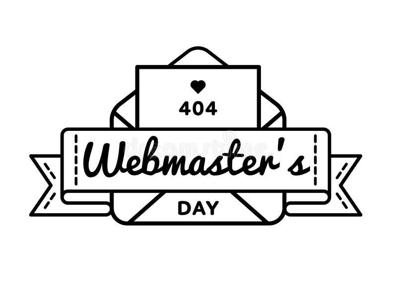 Emblema di saluto di giorno di webmaster del mondo royalty illustrazione gratis