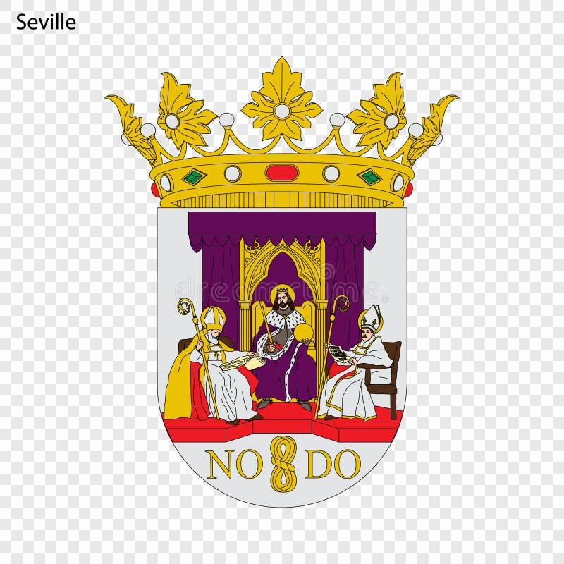 Emblema di Siviglia Città della Spagna illustrazione di stock