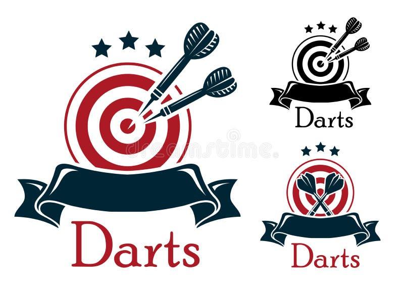 Emblema di sport dei dardi royalty illustrazione gratis