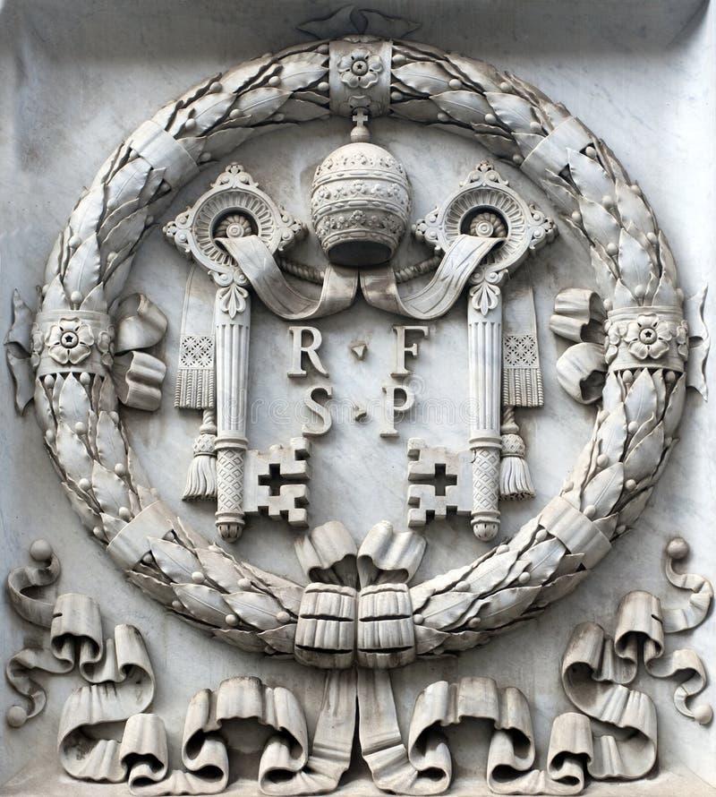 Emblema di Vatican fotografie stock