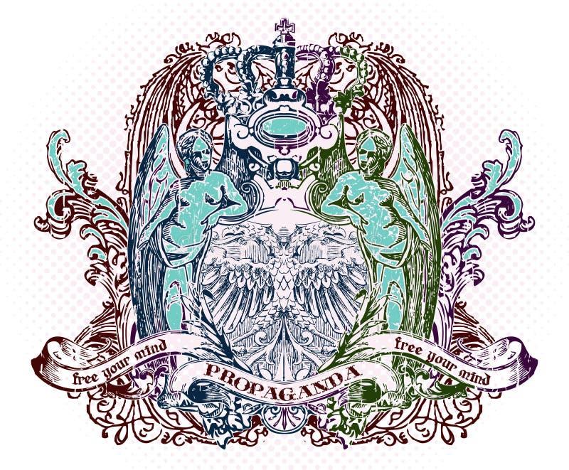 Download Emblema di vettore illustrazione vettoriale. Illustrazione di scheda - 3146629