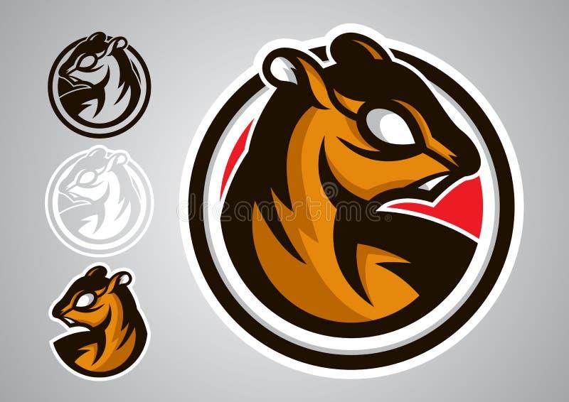 Emblema 2019-06 di vettore dello schermo di logo dello scoiattolo immagine stock libera da diritti