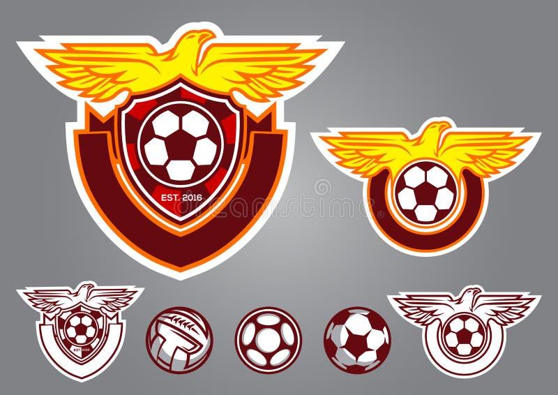 emblema di vettore di logo di calcio dell'uccello fotografia stock libera da diritti