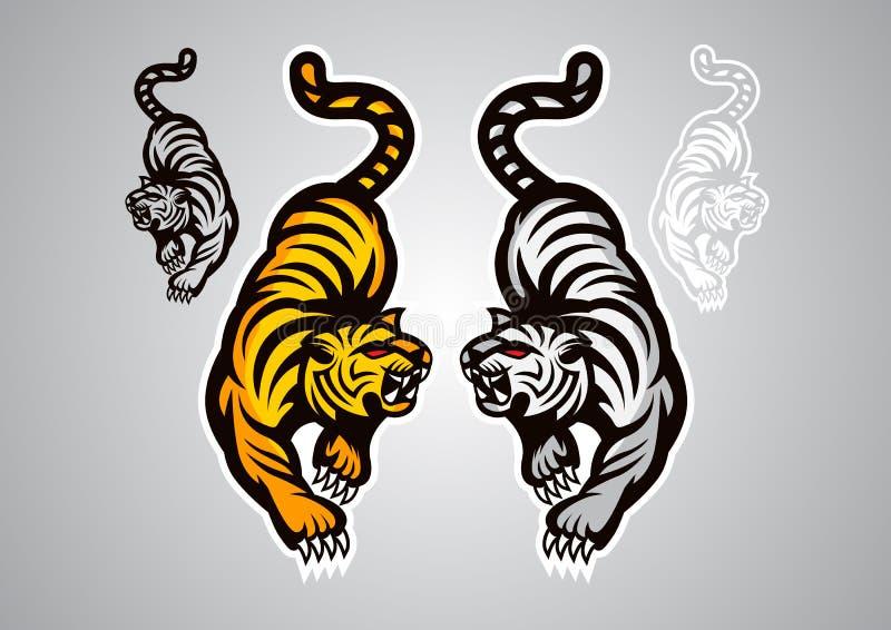 Emblema di vettore di logo del bengaltiger del royaltiger della tigre fotografie stock libere da diritti
