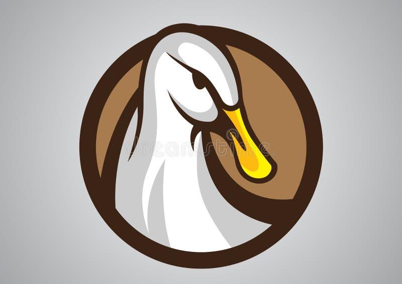 Emblema di vettore di logo dell'anatra fotografia stock