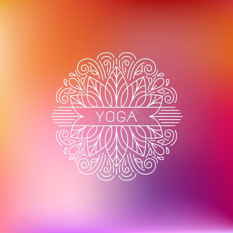 Emblema di yoga illustrazione vettoriale