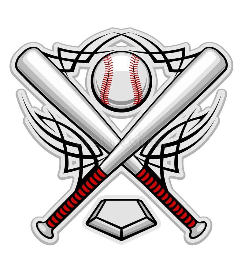 Emblema do basebol da cor ilustração royalty free
