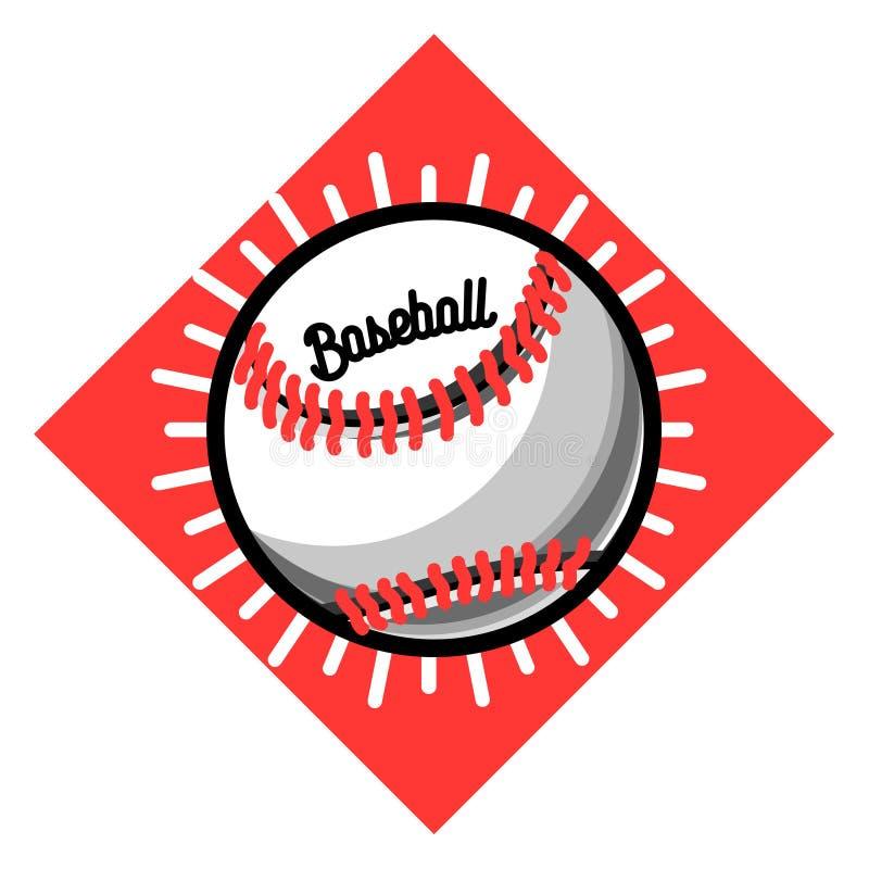 Emblema do basebol do vintage da cor ilustração royalty free