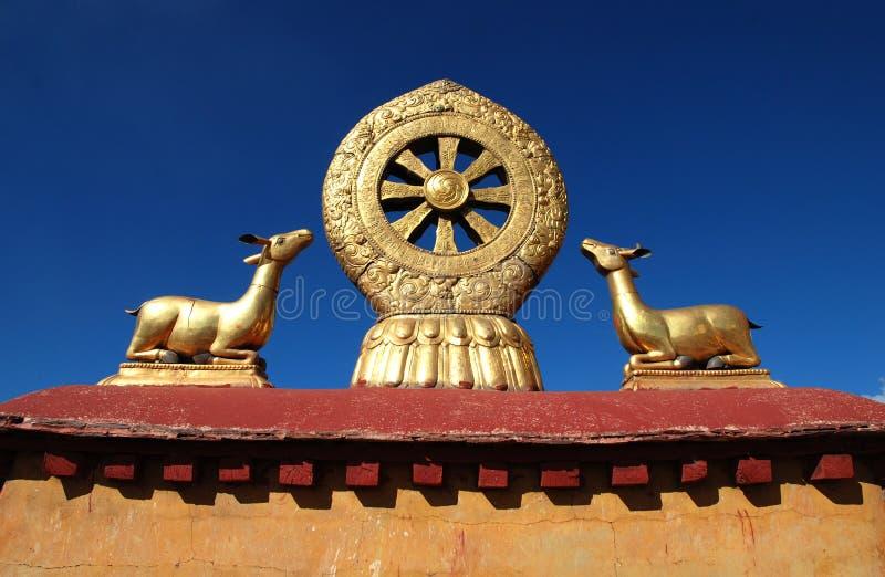 Emblema do Buddhism fotografia de stock