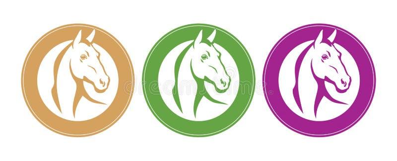 Emblema do cavalo ilustração stock