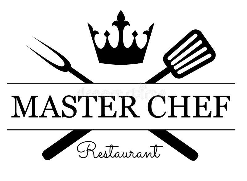 Emblema do cozinheiro chefe mestre ilustração do vetor
