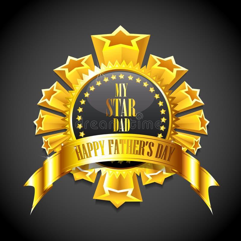 Emblema do dia de pai ilustração royalty free