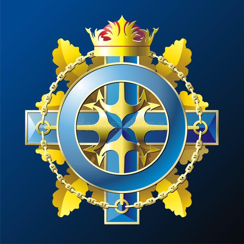 Emblema do estilo da MARINHA ilustração royalty free