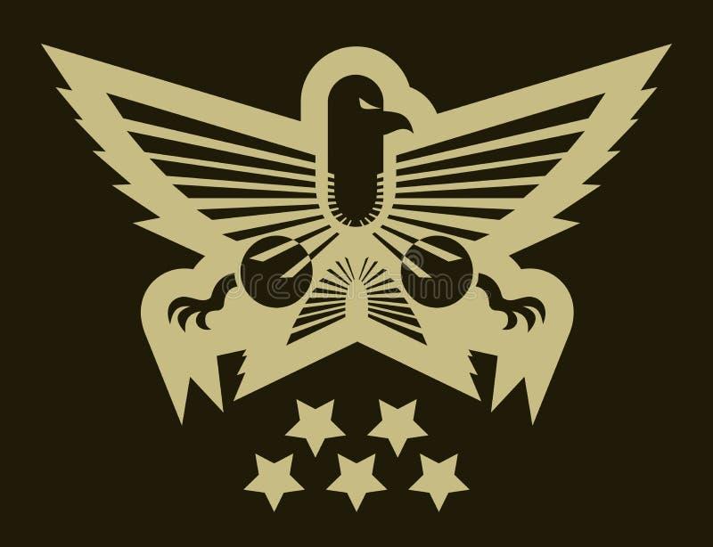 Emblema do exército da águia ilustração stock