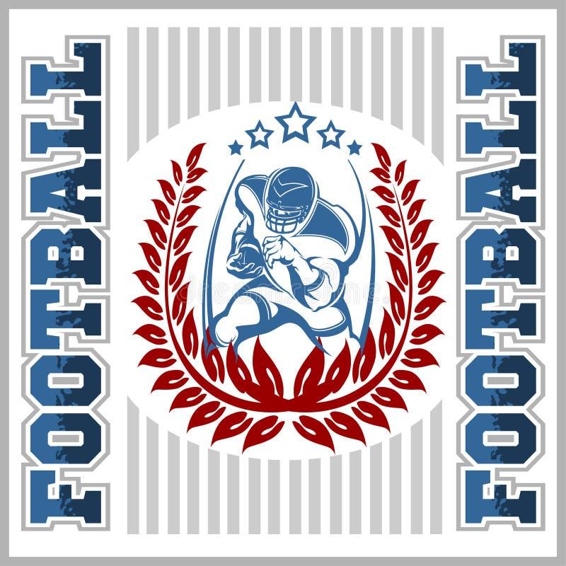 Emblema do futebol americano ilustração royalty free