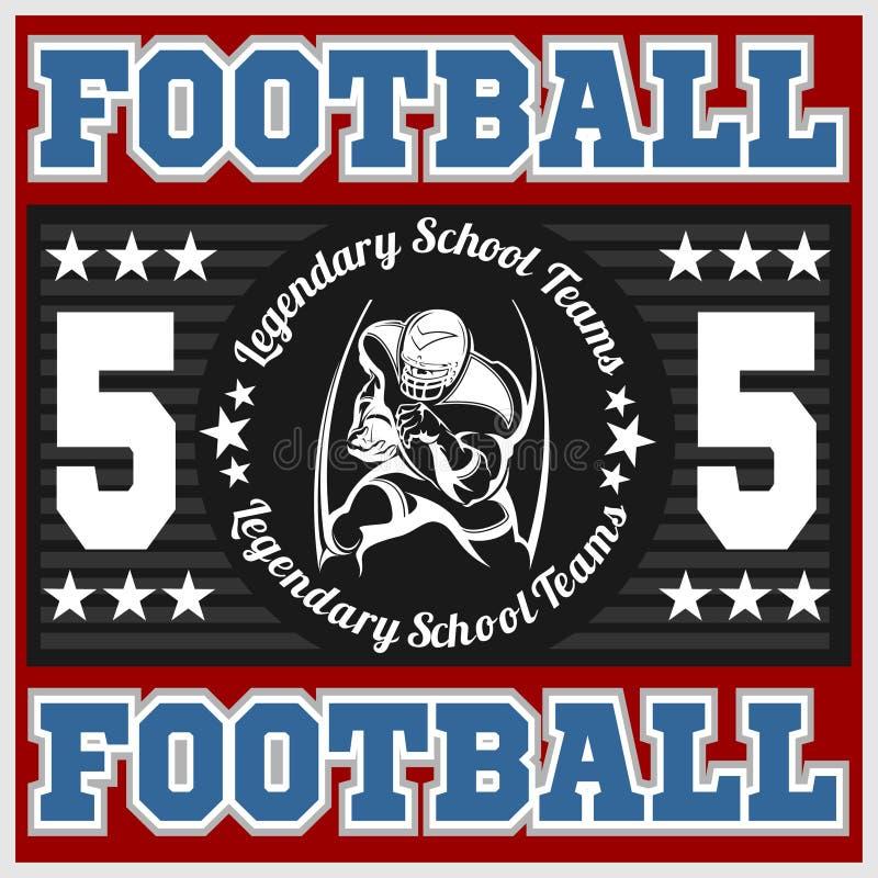 Emblema do futebol americano ilustração stock