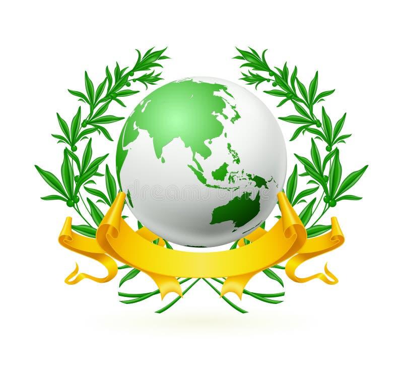 Emblema do globo ilustração do vetor