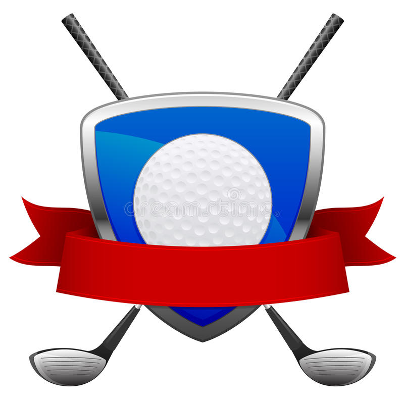 Emblema do golfe ilustração royalty free