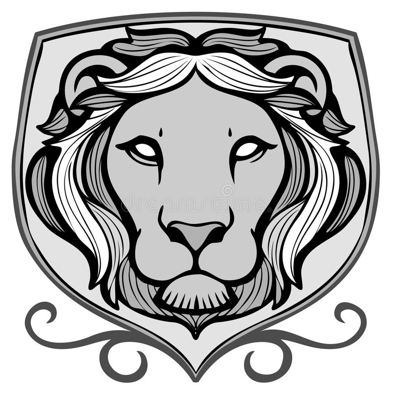 Emblema do leão ilustração stock