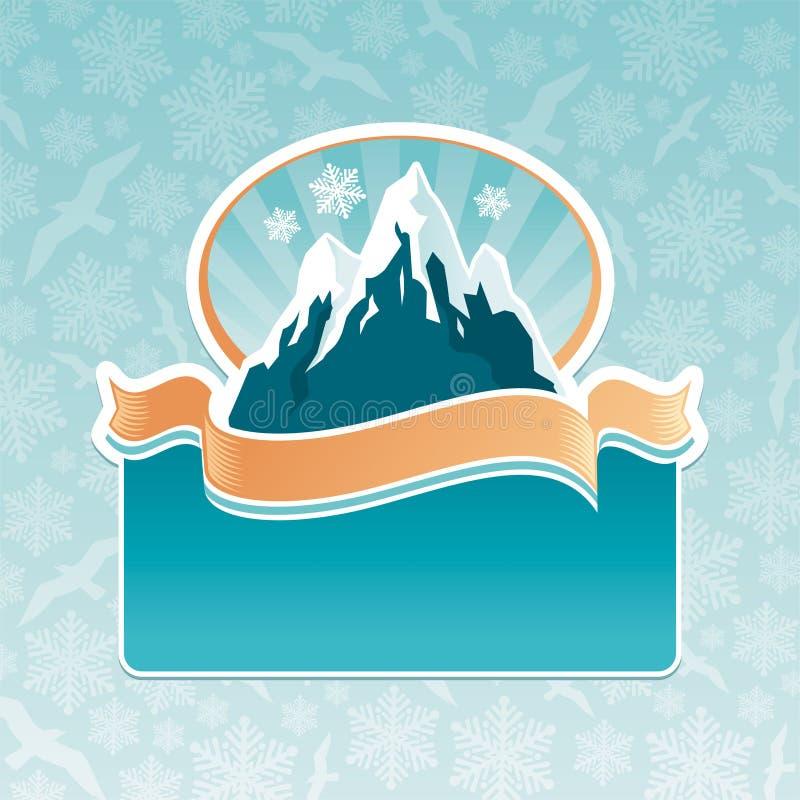 Emblema do marco da montanha ilustração royalty free