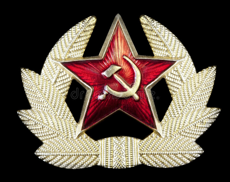Emblema do martelo e do Sickle do russo imagens de stock royalty free