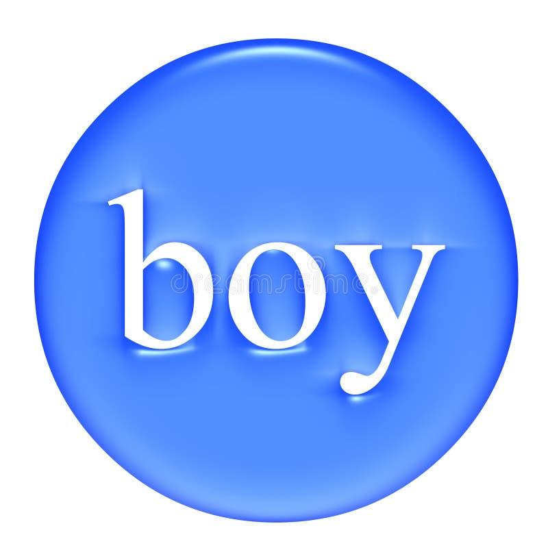 Emblema do menino ilustração royalty free