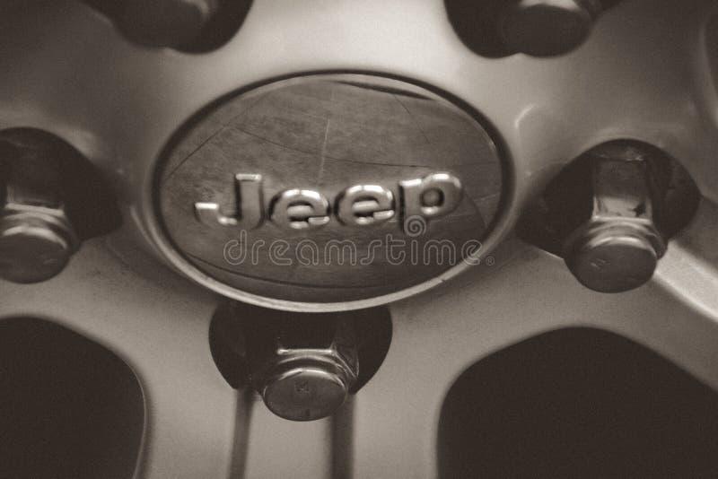 Emblema do metal do jipe fotos de stock royalty free