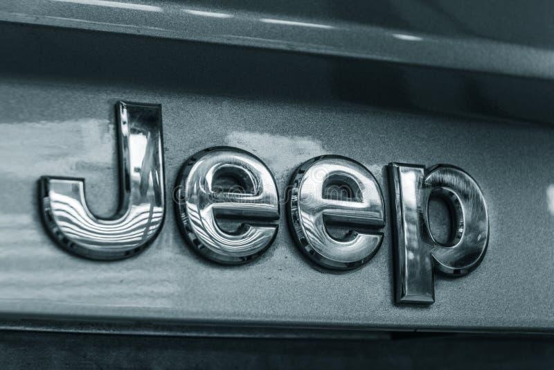 Emblema do metal do jipe fotografia de stock royalty free