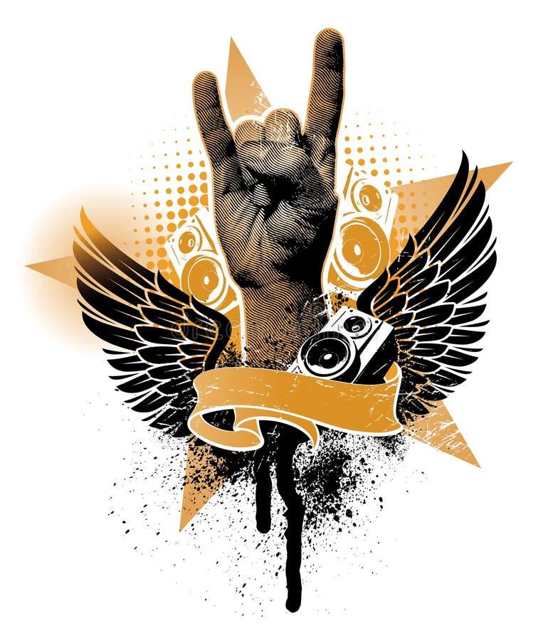 Emblema do metal pesado ilustração royalty free