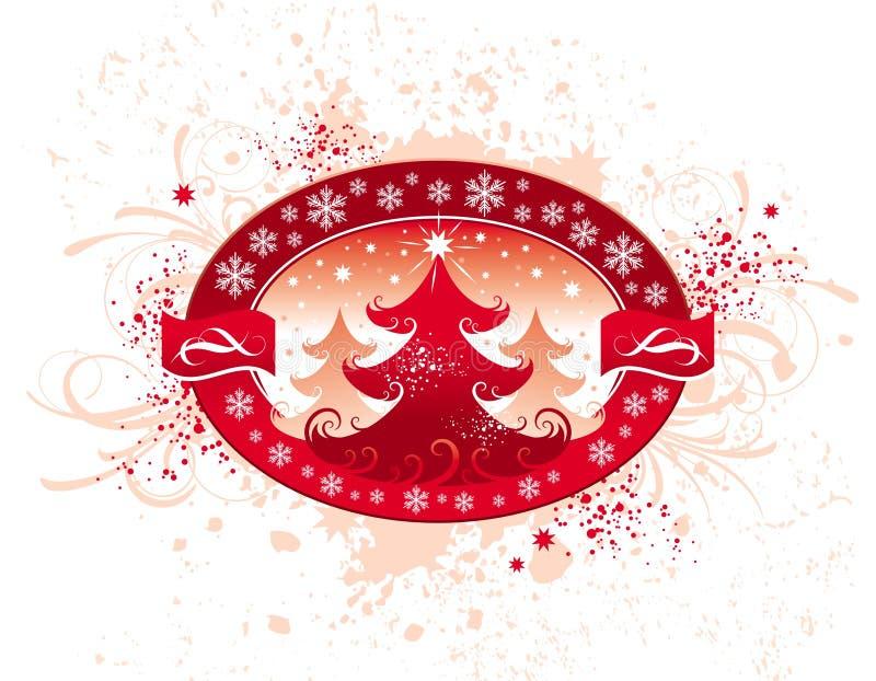Emblema do Natal ilustração do vetor
