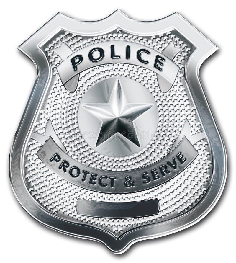 Emblema do oficial de polícia ilustração royalty free