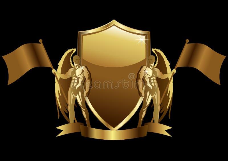 Emblema do ouro ilustração stock