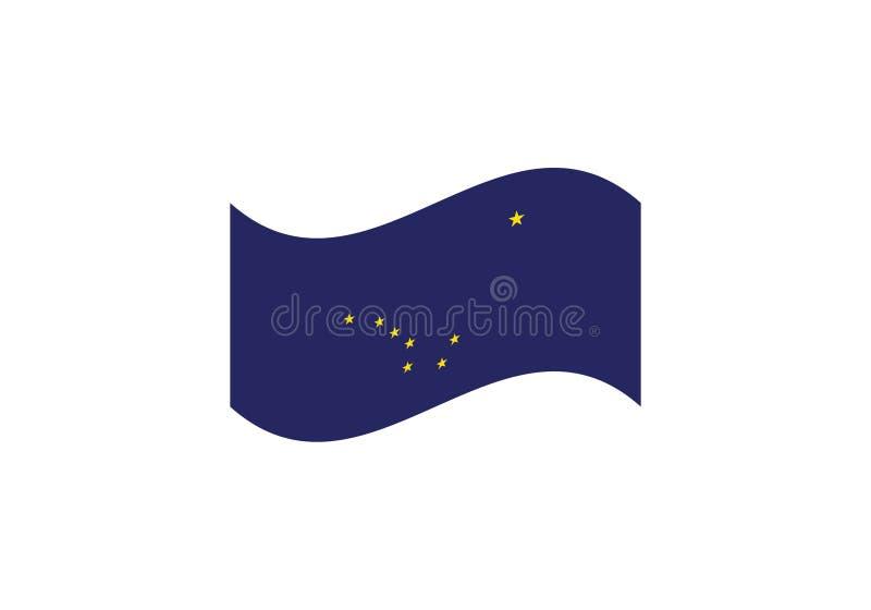 Emblema do país do símbolo nacional da bandeira de Alaska ilustração stock