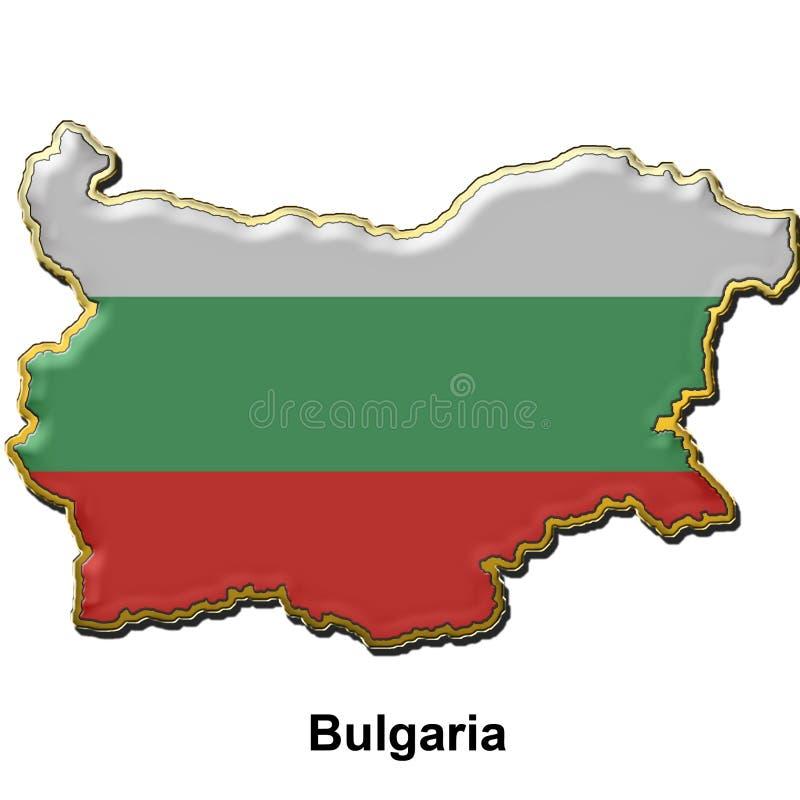 Emblema do pino de metal de Bulgária ilustração royalty free