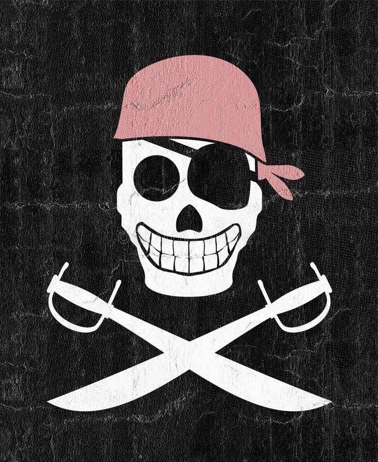emblema do pirata ilustração royalty free